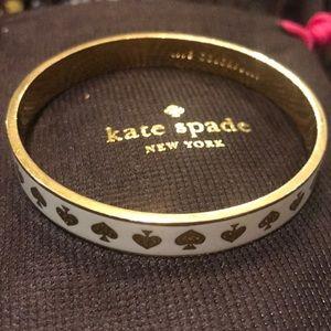 White Kate Spade Bangle